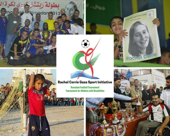 Rachel Corrie Sport Initiative - Website graphic