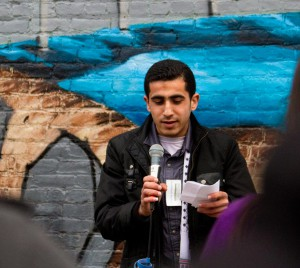 Abedalhadi Basheer, a student from Gaza, at Peace Works 2011. Photo: Emily Weisberg