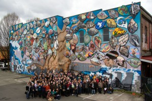 Group Photo at Mural