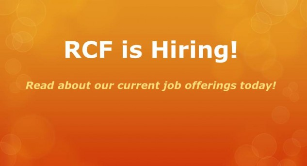 RCF is looking for an Associate Director