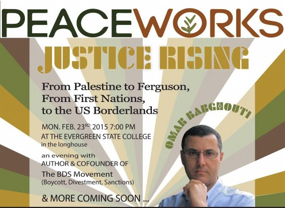 Feb. 23: Peace Works 2015 with Omar Barghouti