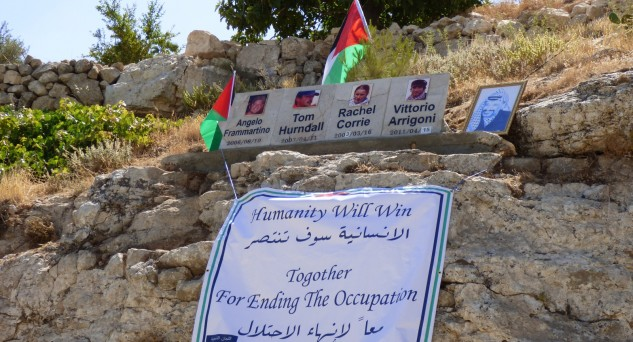 Commemoration ceremony for Rachel Corrie, Vittorio Arrigoni, Tom Hurndall and Angelo Frammartino
