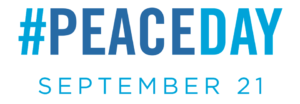 A logo for the International Day of Peace